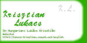 krisztian lukacs business card